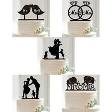 Mr Mrs Wedding Cake Topper Silhouette Bride Groom Acrylic Cake Topper