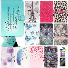 BOYA For Samsung iPad Tablet Case PU Leather Stand Flip Magnetic Patterned Cover