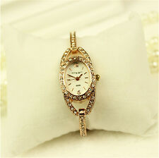Fashion Women Rhinestone Crystal Lady Stainless Steel Analog Quartz Wrist Watch