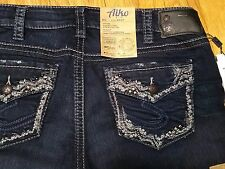 Silver Aiko Slim Boot Jeans Mid Rise Dark Wash Super Stretch New With Tags