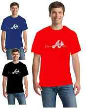 Atlanta Braves  Heartbeat T-shirt 3 Different colors to choose  Free Shipping!