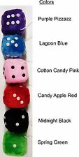 """3""""x 3"""" Fuzzy Dice (PLUSH) - Classic Vintage Cars, 50's, **Free Shipping**"""