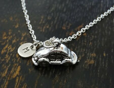 PERSONALIZED Volkswagen Necklace - choose your Initial , Volkswagen Jewelry Gift