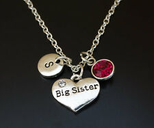 PERSONALIZED Big Sister Necklace - choose your Initial and Birthstone, Big Sis