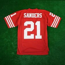 Deion Sanders 1994 San Francisco 49ers MITCHELL & NESS Home Red Jersey Men's