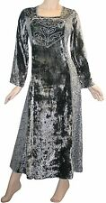 401 DR Agan Traders Renaissance Gothic Velvet Net Embroidered Dress Gown India
