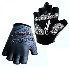 Cycling Bike Half Finger Gloves Shockproof Gel Padded Sports Riding Mitts
