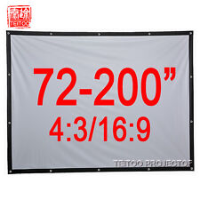72-200 Inch Portable HD Projector Projection Screen Curtains Film Front Projects