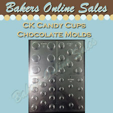 CK Peanut Butter Mallow Mint Cup Molds - Chocolate Candy Sheet Mold Variety Size