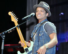 Bruno Mars Poster or Photo Concert with Guitar on Stage