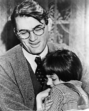 Mary Badham Hugging Gregory Peck to Kill a Mockingbird Poster or Photo