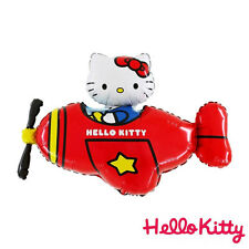 """37"""" Hello Kitty In Red Helicopter Foil Balloon Birthday Party Childs School Kids"""