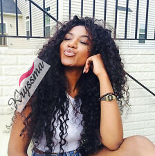 Curly Human Hair Full Lace Wigs 6A Indian Remy Hair Glueless Lace Front Wig 150%