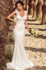 White Embroidered Lace Wedding Party Prom Evening Dress LC60632 women summer new