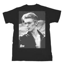 David Bowie Smoking Officially Licensed Glam Rock Men's T-Shirt