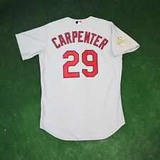 2011 CHRIS CARPENTER St Louis Cardinals AUTHENTIC World Series Grey Road Jersey