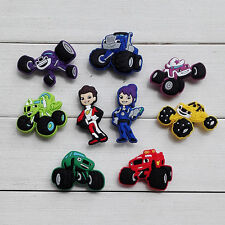 New 9-100PCS Monster Truck Racing  shoe charms shoe accessories For Bands & Croc