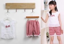 1SET Tops+Short T-shirt Kids Clothes Pants Baby Toddler Outfit Trousers Girls