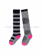 Deux par Deux Girls' Knee-high Socks Rose Ballad, Sizes 7-12