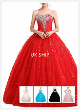 wt09 SIZE 6=24 beading prom ball  sequined gown evening party dress uk seller