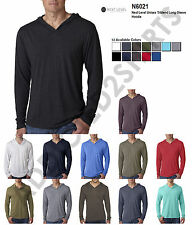 6021 Next Level Men's Tri-Blend Long-Sleeve Hoodie All Colors S-2XL