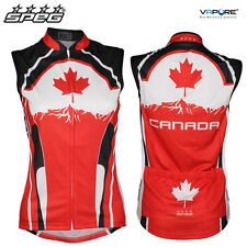 SPEG Canada Canadian Womens Sleeveless Cycling Jersey Full Zipper - SECONDS