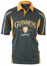 Guinness Embroidered Performance Rugby Jersey Mens Irish Ireland Shirt NEW
