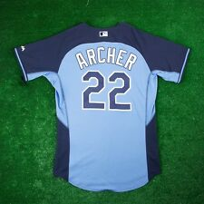 CHRIS ARCHER Tampa Bay Rays Authentic On-field Batting Practice Jersey Men's