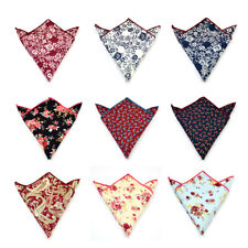Cotton Paisley Floral Party Pocket Square Hankie Man Handkerchief Free Shipping
