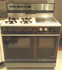 Spectrun Double Gas Stove Oven 4 Burner Cooktop Grill Rotisserie 100cm wide