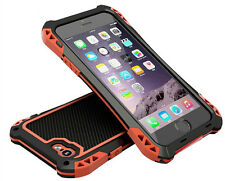 Amira Extreme Shock Waterproof Metal Carbon Fiber Case Protector For iPhone 5 5S