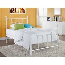 NEW Twin Full Queen Size Metal Mattress Foundation Bed Frame Headboard White NIB