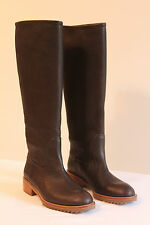 Pedro Garcia Brown Pebbled Leather Olaya Riding Boot NEW in Box