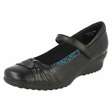 Girls Start Rite Angry Angels 'Innocent' Leather School/Smart Shoes Black
