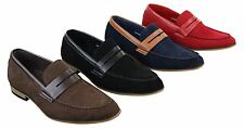 Mens Suede Slip On Loafers Moccasins Smart Casual Italian Designer Shoes