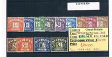 GB Postage Dues & Commonwealth Sets