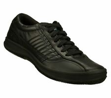 76997 Black Skechers Men's Work Shoes SR Leather Memory Foam Relaxed Fit #j7
