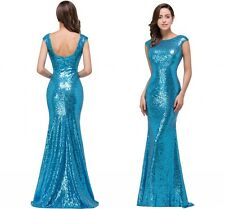 Babyonlinedress Mermaid Sequin Evening Prom Formal Party Long Bridesmaid Dresses