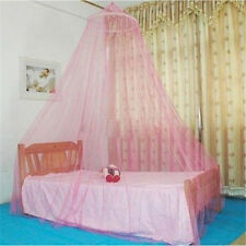 Lovely Pink Lace Curtain Dome Bed Round Canopy Netting Princess Mosquito Net