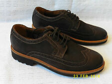 Halton Wing Clarks EXTRALIGHT Brown Leather Men's Brogue Shoes