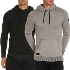 Mens Dissident Casual Plaited Hooded Jumper  Hoodie Pullover Top Nachor