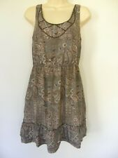 BNWT ***FREE POSTAGE*** JUST JEANS BEADED FRILLED PRINT DRESS RRP $80 sz 8 10 16