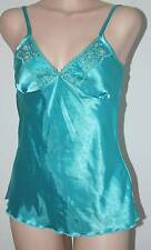 Sexy Blue Shiny Sequin lace trim Camisole lingerie style cleavage Top Never worn