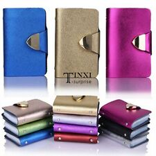 26 Card Slots Business Credit ID Card Holder Leather Pocket Case Wallet TXSU