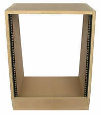 "12u angled 19"" inch wooden rack unit/case/cabinet for studio/DJ/recording/audio"