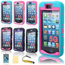 PC Shockproof Dirt Proof Hard Matte Cover Case +Screen Film For Apple FNHB
