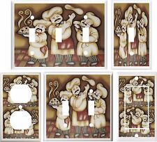 FAT CHEF KITCHEN DECOR LIGHT SWITCH COVER PLATE OR OUTLET V864