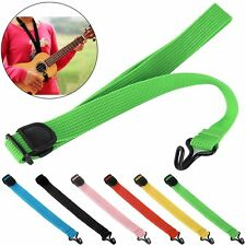 Hot Adjustable Nylon Ukulele Strap Halter Sling Suspender With Hook For Guitar