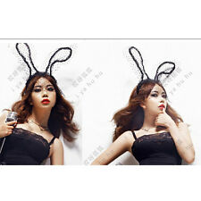 Sexy Women Lace Rabbit Ear Headband Hair Band Mask Fancy Dress Masked Ball SPCA