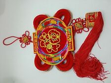 Chinese new year sequin fabric card blessing party decoration red lantern luck